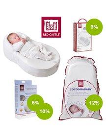 """Комплект кроватка-кокон для новорожденных T3 белый с аксессуарами со скидкой Red Castle """"Cocoonababy"""""""