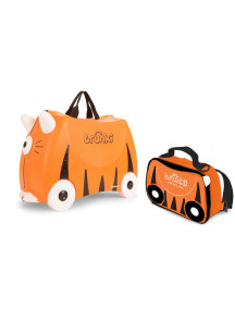 Комплект Детская каталка-чемодан Trunki Tipu Tiger  + Сумка-холодильник Тигренок