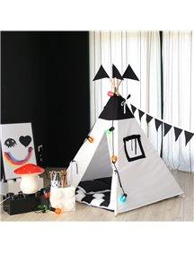 Вигвам ручной работы для детей Черно-белый, Black&White