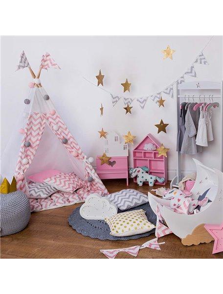 Вигвам ручной работы для детей Розовые Зигзаги, Pink Zigzag