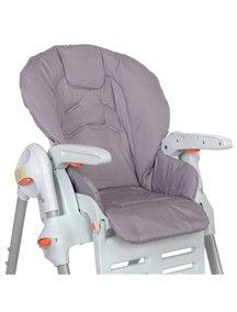 Съемный чехол Gray / Серый для стульчика для кормления (водостойкое покрытие)