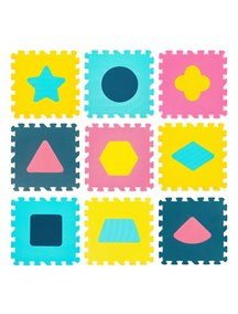 """Коврик-пазл 15 мм (9 плит) с фигурами - Серия NT Funkids 12"""" """"Геометрия"""" [ art. KB-D20C-9-NT ], 08R"""