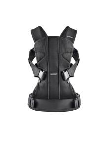 """BabyBjorn """"One"""" Многофункциональный рюкзак-кенгуру для ношения ребёнка на груди и на спине, Черный, Mesh"""