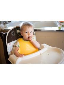 BabyBjorn Нагрудник мягкий пластиковый для кормления ребенка, желтый