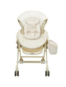 Электронная многофункциональная люлька - стульчик COMBI Fealetto Auto Swing EX/FV Beige (бежевая) (от рождения - 4 лет)